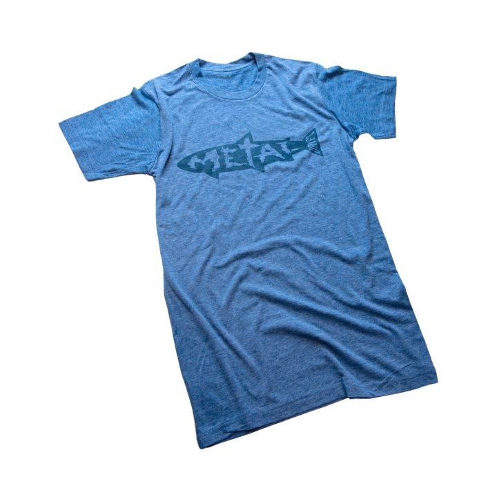 dryft metal tee shirt blue