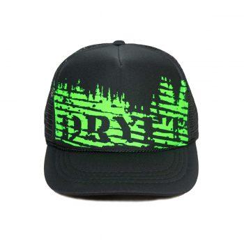 green trees dryft trucker hat