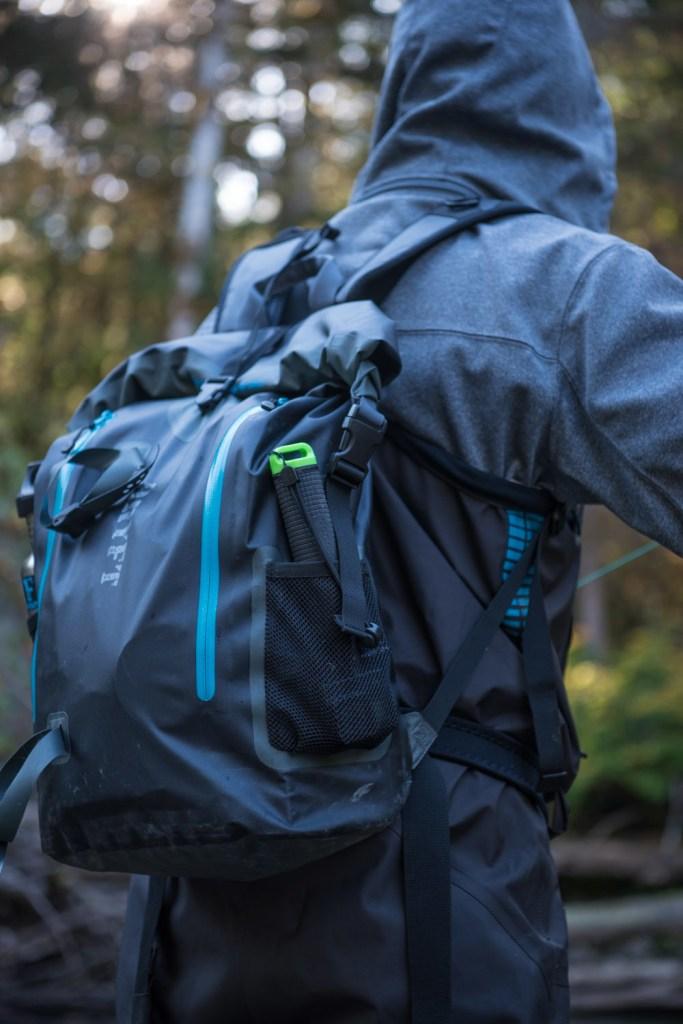 DRYFT BKCNTRY Waterproof backpack - fall backcountry fishing