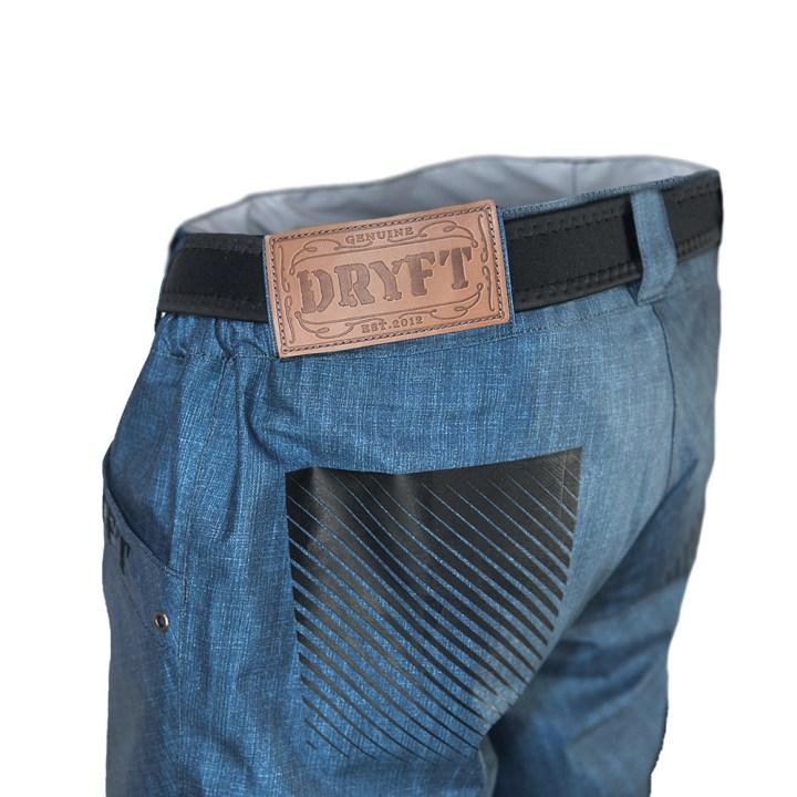 DRYFT SEEKR denim style fishing wading pant back