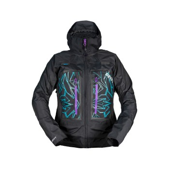 DRYFT women's Primo Rain Jacket front hood up - fly fishing