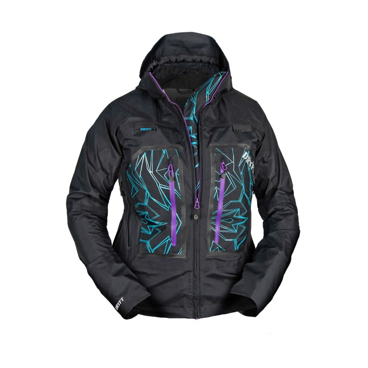 DRYFT women's wading jacket front zipper down - fly fishing - Primo Rain Jacket