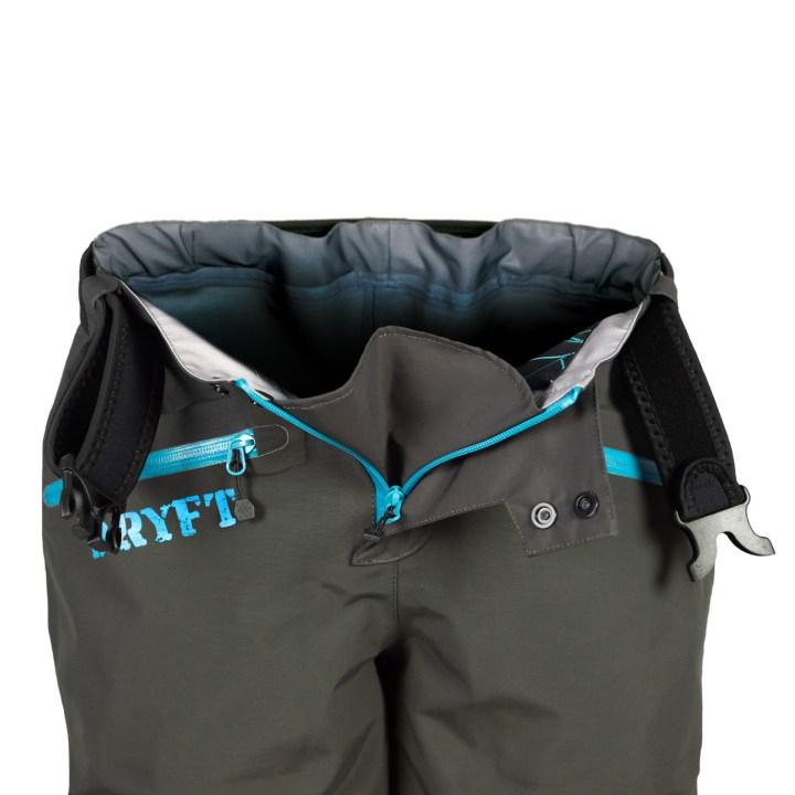 DRYFT women's Session wading pants front zipper