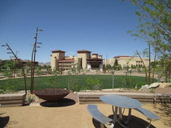 the permeable terrace in front of the UTEP dinner theatre