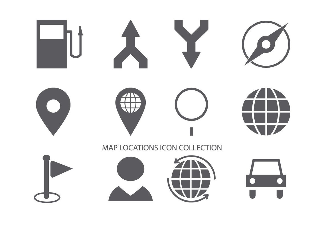 Map Location Icon Collection