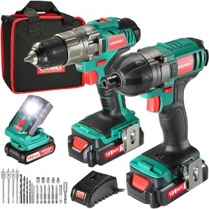 HYCHIKA 35Nm Drill Driver and Impact Driver