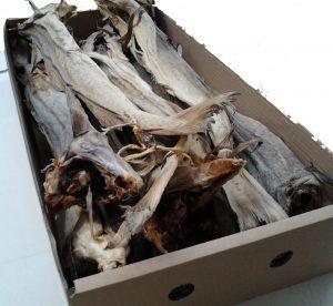 Stockfish Codfish 9 kg carton
