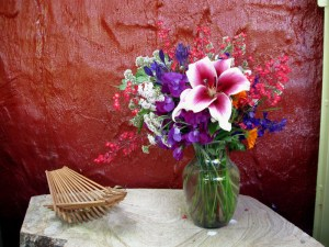 Sweet Peas and Garden Pleasure Lily