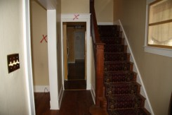 3 Stairs before Demolition (marked areas to be removed)