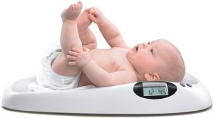 baby on weighing scale 2