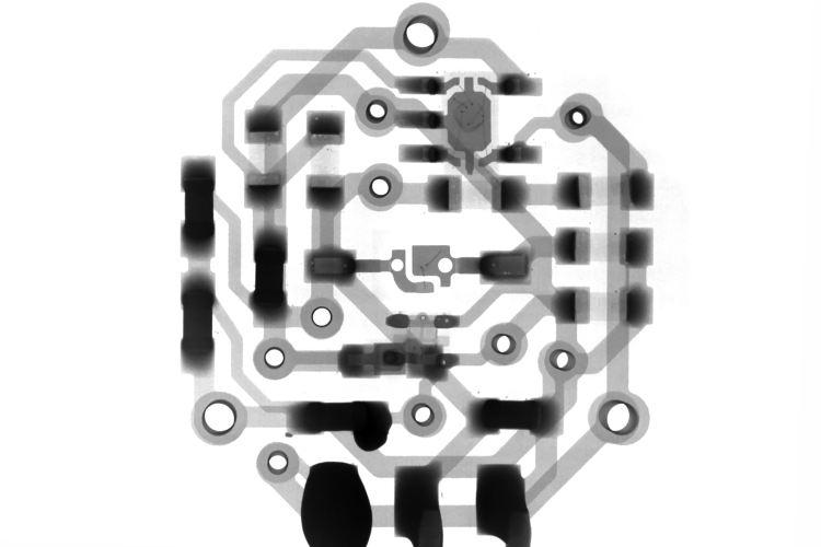 A circular circuit board