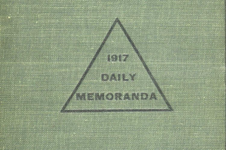 front cover of Thomas D. Craven diary