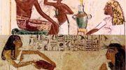 Fresques égyptiennes de l'Antiquité.