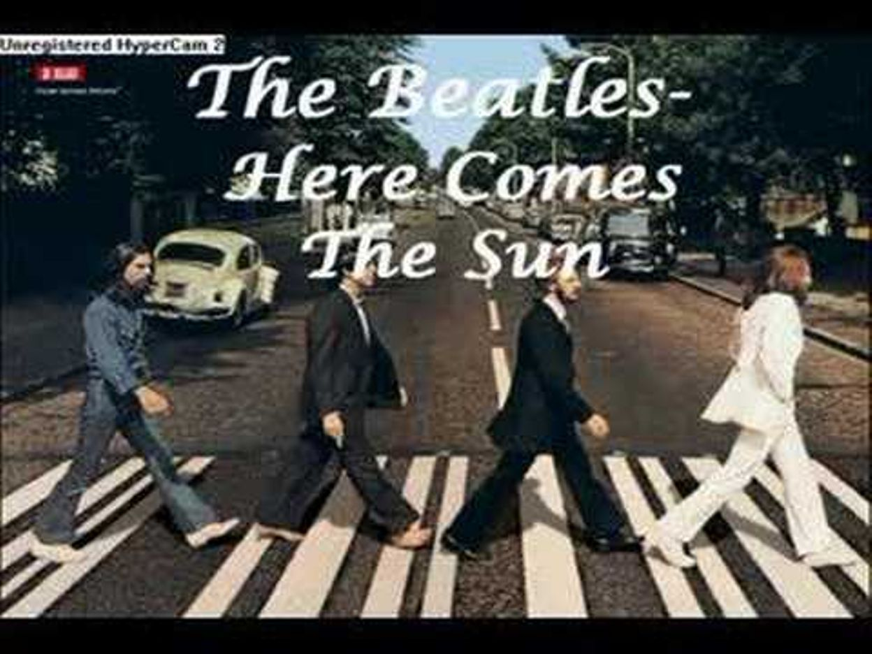 Beatles Here Comes The Sun With Lyrics