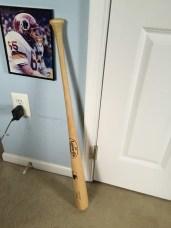 Baseball bat creates a shadow