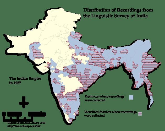 भारत का भाषायी सर्वेक्षण नक्शा
