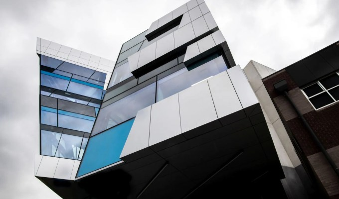 One way to ask for something – and get it. The Exercise and Sports Science Teaching Building at Deakin University.