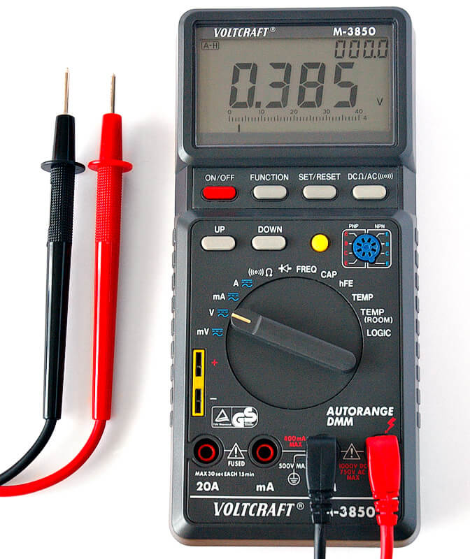 A digital multimeter is a handy tools to test electric current. It's easier to use and more accurate than traditional ones.