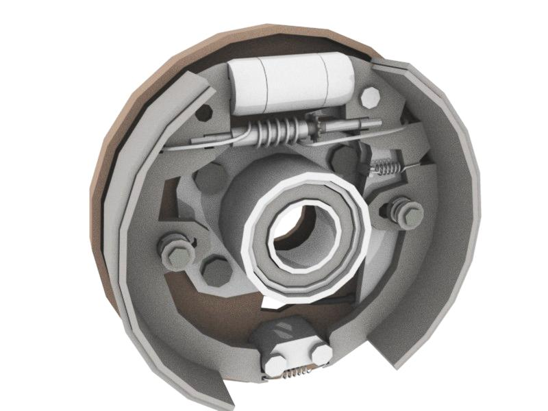 Drum brake are usually found at the rear wheels.