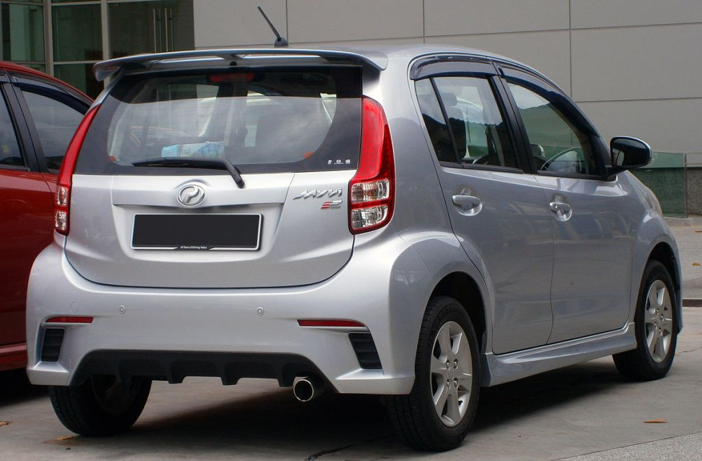 This is Perodua Myvi's rear view. The rear light is a good way to distinguish a car. Image courtesy of Aero7.