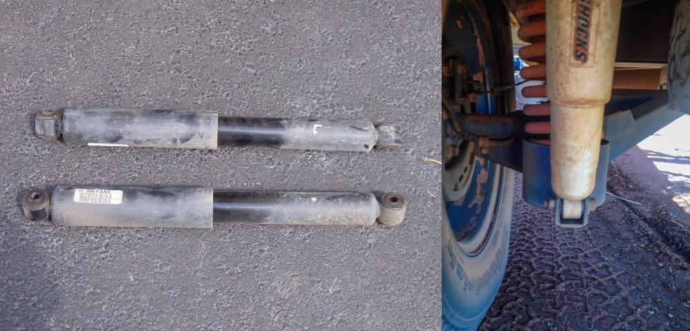 As you can see, hydraulic shock absorbers have very simple structure.
