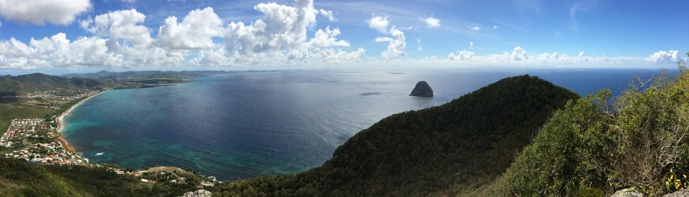 Vue panoramique de la Baie du Diamant - DSC Club de plongée