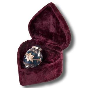 Beautifully hand crafted solid brass keepsake with marble patina finish. Comes with elegant velvet case. - DSD Brands