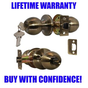"""Chronos"" Entry Antique Bronze, Door Lever Lock Set Knob Handle Set - DSD Brands"