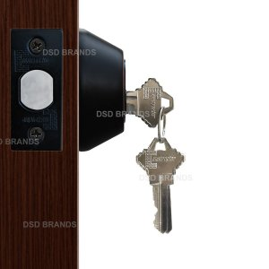 """Deadbolt"" Door Lock Set with Single Cylinder, Finish: Oil Rubbed Bronze - DSD Brands"