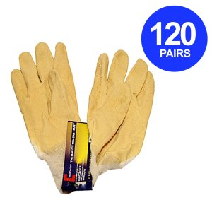 Constructor® Natural Latex Heavy Duty Gloves 90g. 120 Pairs. - DSD Brands