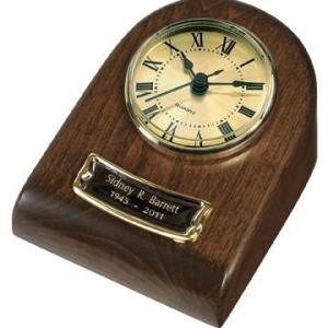 Beautifully hand-crafted Chestnut mini-clock keepsake. - DSD Brands