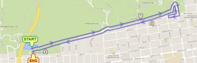 Easter Sunday Roller Coaster Run Race Map - Click on image for large size