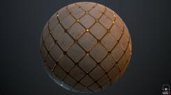 [Marmoset Toolbag] Golden Tiles made on Substance Designer