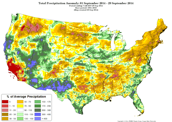 precipitation anomaly