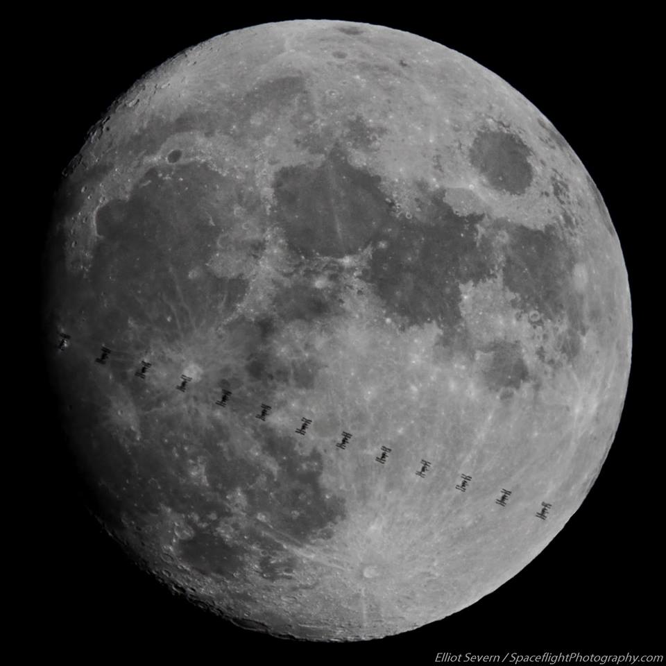 international space station crosses moon, full moon, delaware, sussex county,