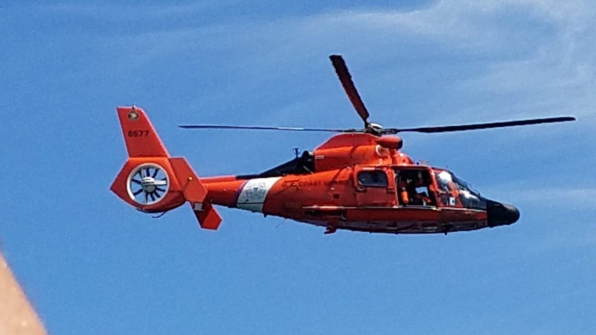 coast guard helicopter, cape may, uscg