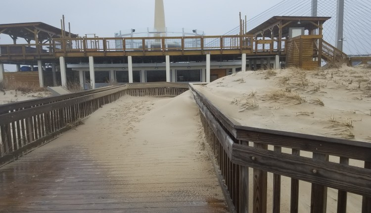 Big Chill Beach club, and a dune on the boards