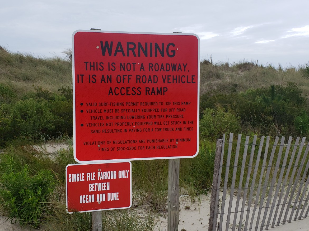 faithful steward crossing, savages ditch, delaware seashore state park, sussex county, delaware, drive on beach rules, ORV access