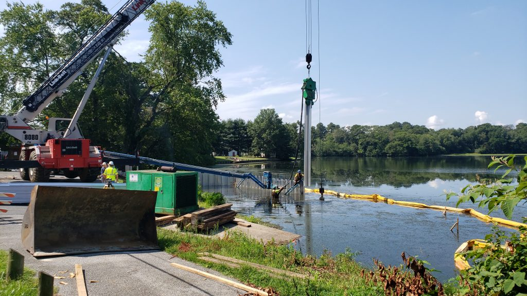 millsboro pond boat ramp, upgrades, extension, dnrec, delaware, sussex county, bass fishing, pickerel, cupola park, indian river