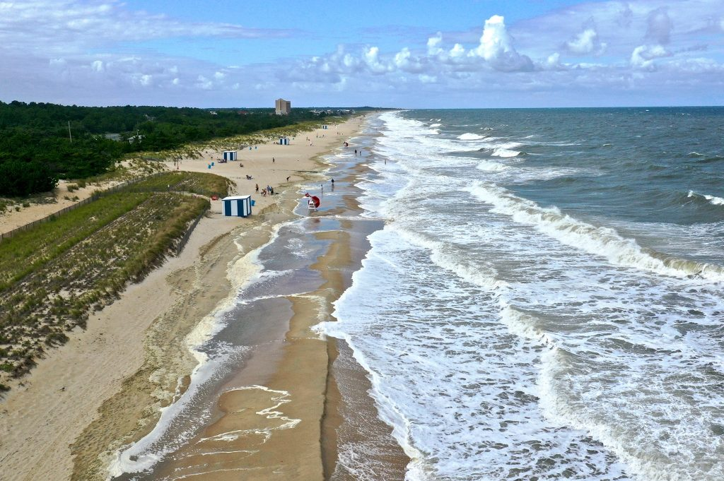 north rehoboth beach, noreaster of summer 2019, delaware, sussex county, flooded beach