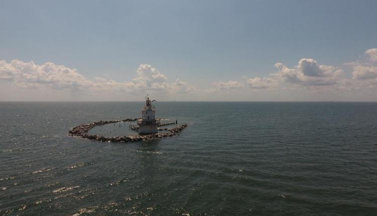 Brandywine Shoal Lighthouse shot from afar