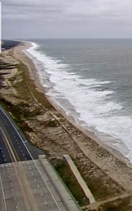 Delaware Seashore state park from the delDOT north tower Indian river inlet bridge cam