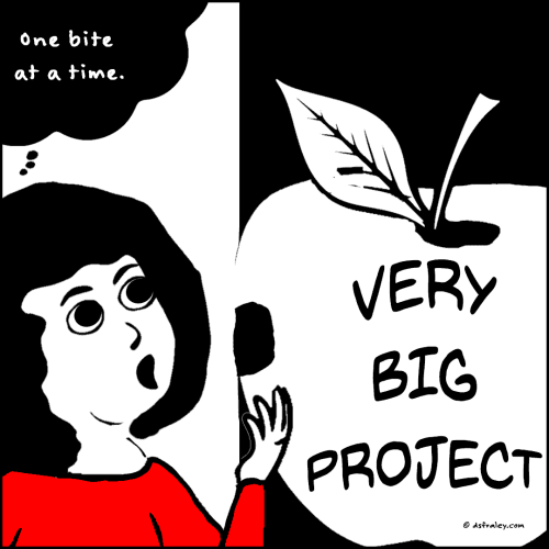 How do you eat a very big project?