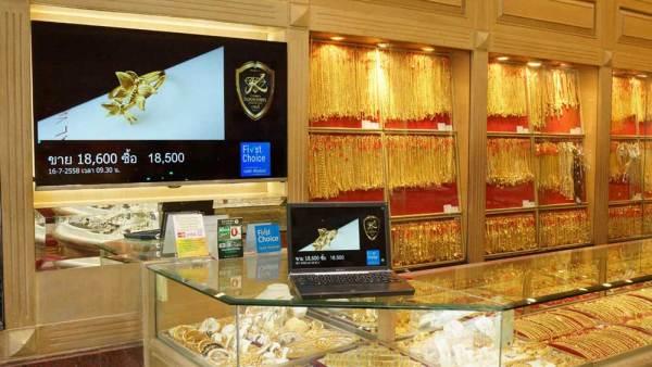 ป้ายแสดงราคาทอง แบบจอ LED Digital Signage ร้านทองเกษตร ราชบุรี