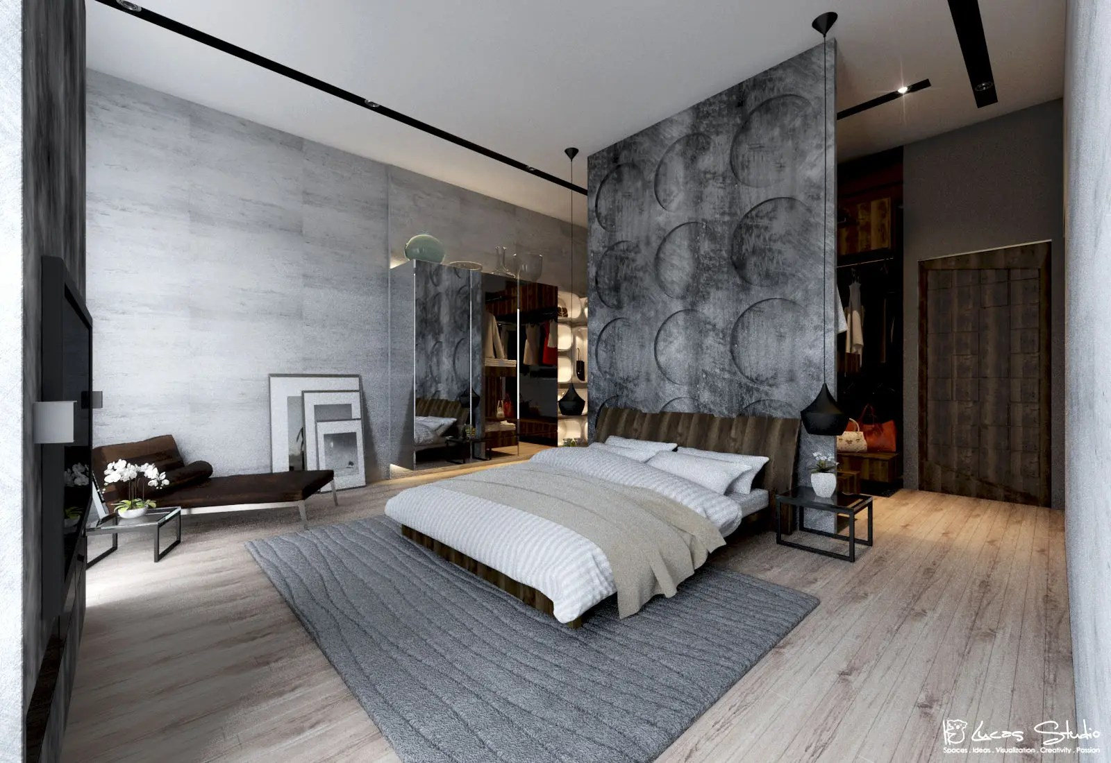 10 Beautiful Examples Of Bedroom Accent Walls - D.Signers on Minimalist:btlhhlwsf8I= Bedroom Design  id=49528