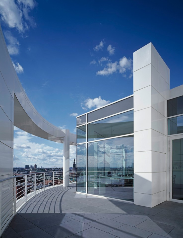International Coffee Plaza, Hamburg, 2010, Richard Meier + Partners, Architekten, New York