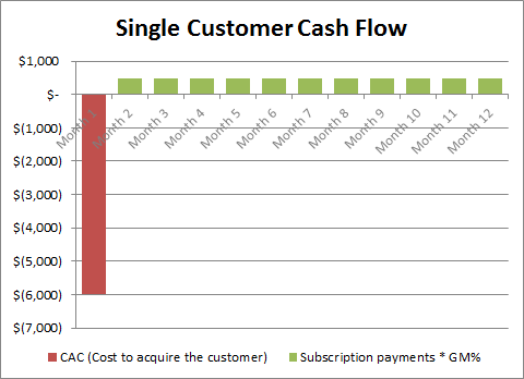 SaaS Customer Cash Flow