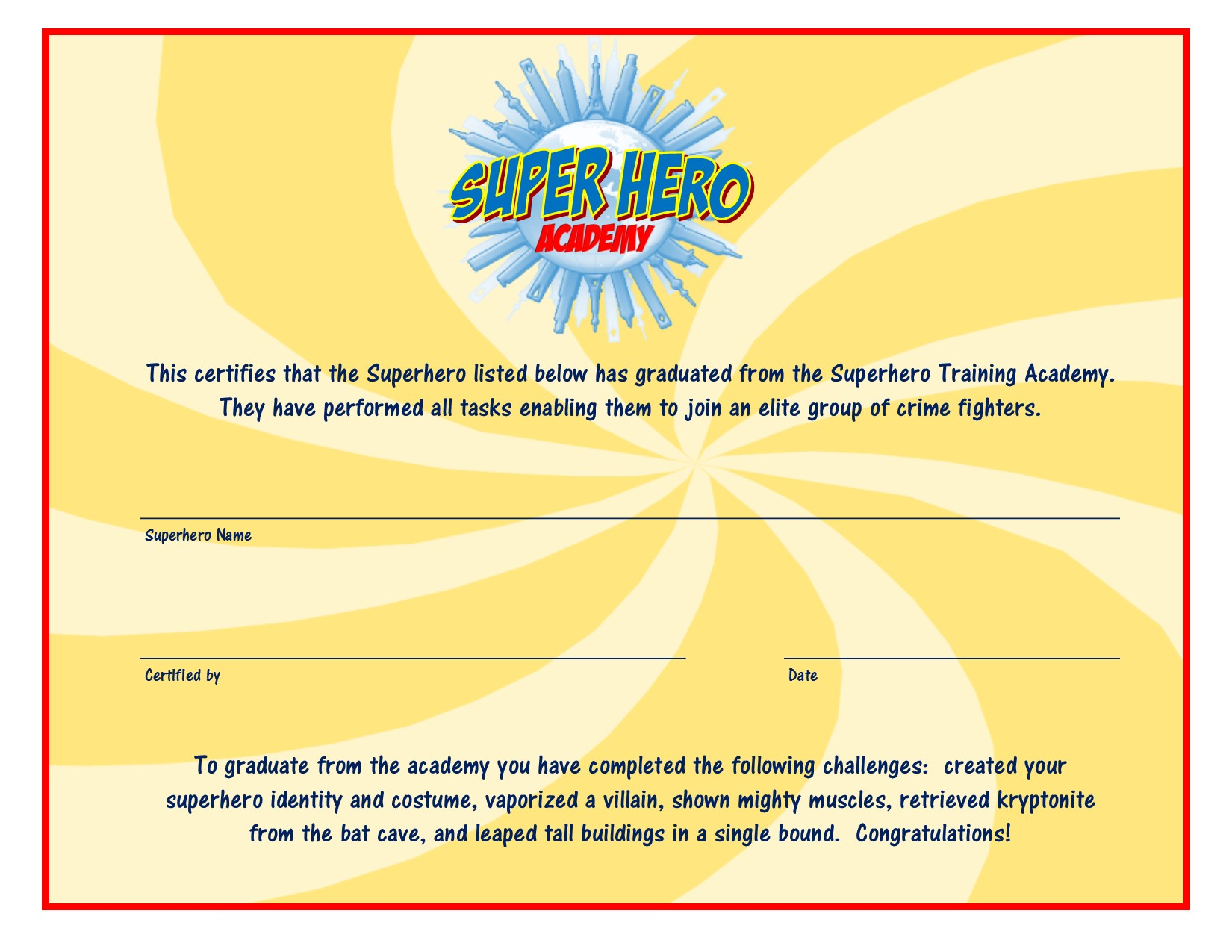 superhero academy: birthday party ideas 4 kids - dsm4kids