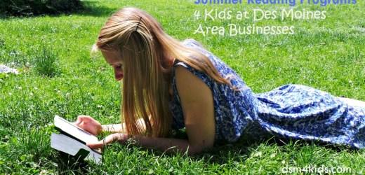 Summer Reading Programs 4 Kids at Des Moines Area Businesses