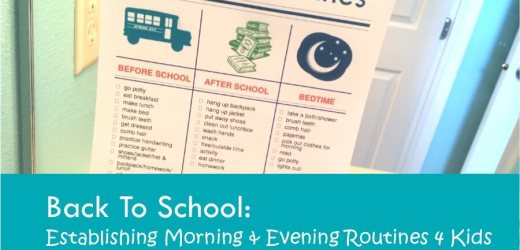 Back To School: Establishing Morning & Evening Routines 4 Kids